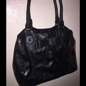 Elle black bow purse low price
