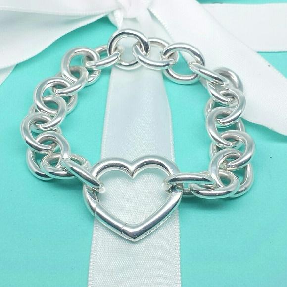 2034ddbc05a5b Tiffany & Co. Open Heart Clasp Bracelet Silver