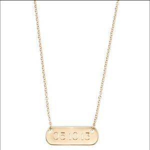 ace280fd2367a Stella & Dot signature engravable bar necklace