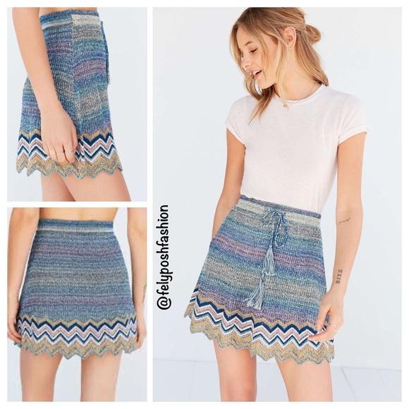 35c131d57 Urban Outfitters Skirts | Chevron Sweaterknit Mini Skirt | Poshmark