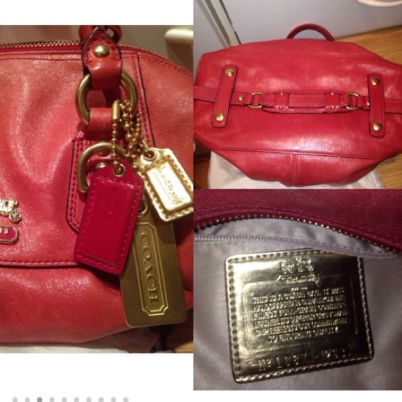07c901b2d1 ... Coach Bags - 🎉HP🎉Coach red leather Madison Sabrina Satchel ...