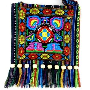 Handbags - Vintage Boho Embroidery Hobo Crossbody Handbag