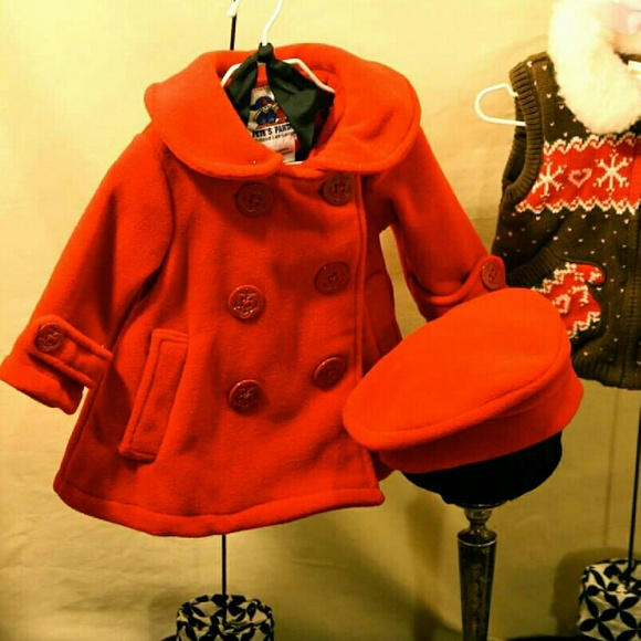 70% off Pete&39s Partner Other - Girls Red Pea Coat from Emily&39s