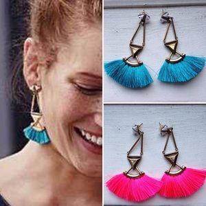 Jewelry - ❣RESTOCK❣ PINK BLUE Tassel Dangle Earrings
