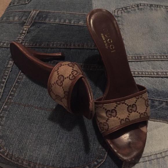 0ba684f4d Gucci Shoes | Brown Monogram Sandals | Poshmark