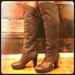 UGGS Stout Dreaux dark brown over the knee boots