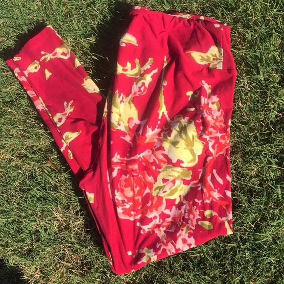 49% off LuLaRoe Pants - TC LuLaRoe Roses Leggings from Piperu0026#39;s closet on Poshmark