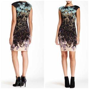 London Times Floral Printed Sheath Dress