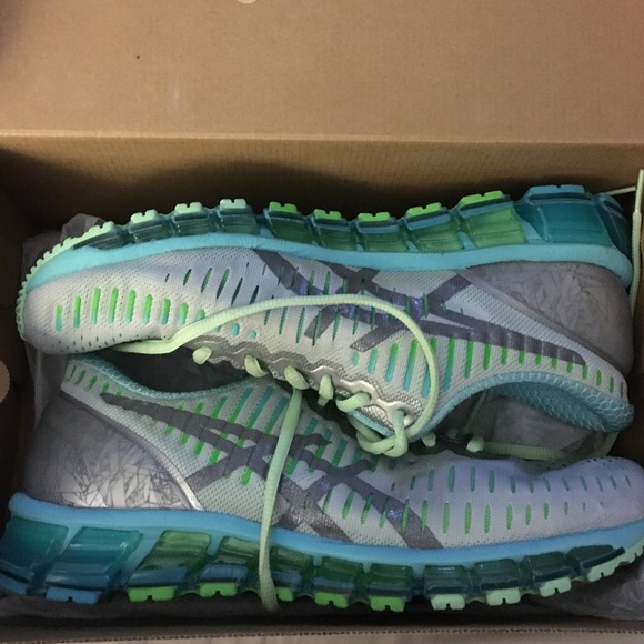 new style fc074 ffcd3 NEW! Gel-Quantum 360 Asics Silver/Carbon/Turquoise NWT