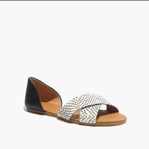 Madewell thea crisscross sandal in spotdot