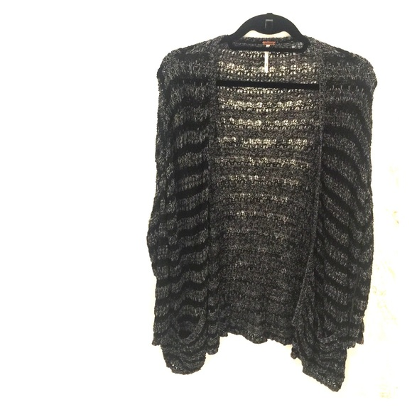 40% off Free People Sweaters - Free people black and grey open ...