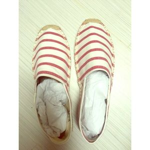 Soludos Shoes - Red and white striped espadrilles