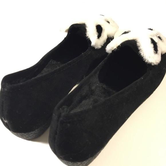 Shoes - Velvet Furry Bunny Flats