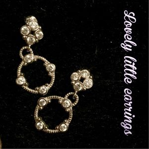 Lovely silver and crystal drop earrings.
