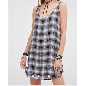 Dollskill Lira Check Tunic Print Dress