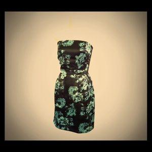 Banana Republic Satin Strapless Pocket Dress
