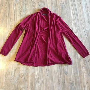 Zara knit open sweater cardigan. Medium.