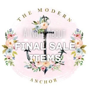 ▪A NOTE ABOUT FINAL SALE ITEMS▪