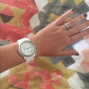 Ceramic Michael Kors Quartz chronograph watch