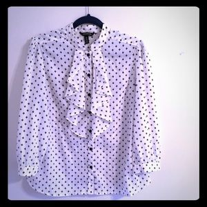 NWOT George Ruffled Front Blouse in Large 12/14