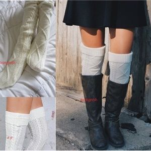 HUE Accessories - Boot Cuff Over The Knee Thigh High Socks Long Cozy