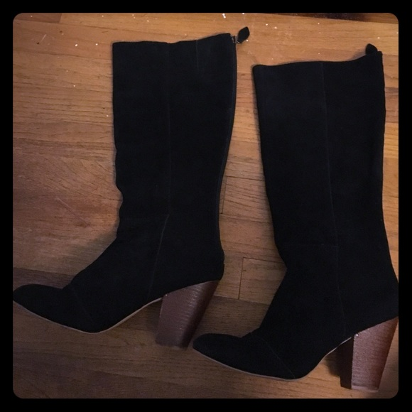 Matisse Shoes | Black Suede Boots With