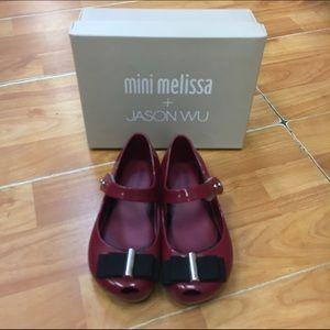 b58306ea46 Mini Melissa Shoes - Mini Melissa UltraGirl + Jason Wu Bordeaux Mary 9