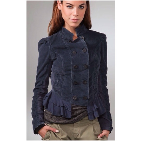 9edb4803968 Free People Jackets   Blazers - Free People corduroy military jacket  -ruffled hem