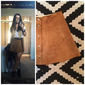 Vintage 70's Suede Mini Skirt