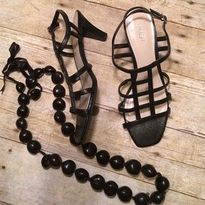 "St. John's Bay Shoes - 👀3""Strappy Heels👀 St. John's Bay Size 8M NWOT"