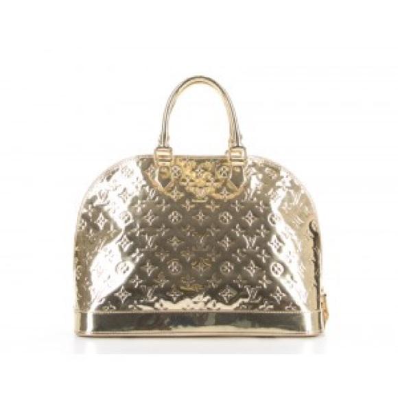 0ef9be19f92 Louis Vuitton Bags   Gold Monogram Mirior Alma Gm Bag   Poshmark