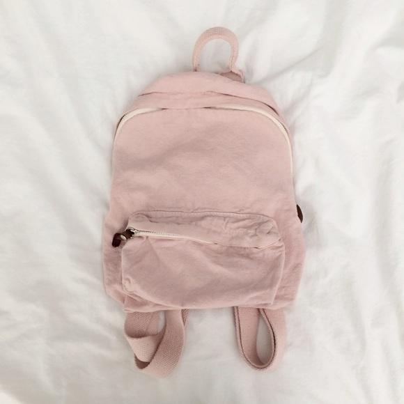 Brandy Melville Handbags - BNWOT Brandy Melville Mini Canvas Backpack 2fbfa16d7bc60