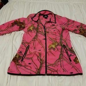 Camo pink mossy oak zip up