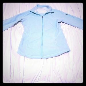 Fleece light blue sweater