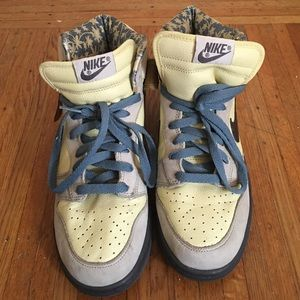 pretty nice dd3b3 f33cb Nike Shoes - Nike Dunk High Premium Mens LemonadeMidnight Fog