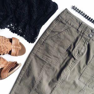 LOFT Olive pencil skirt