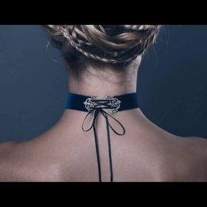 Velvet Tie Up Choker Set