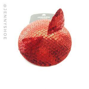 Topshop Accessories - {topshop} red sequin cat fascinator