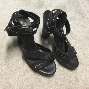7 for all mankind brown size 6 heels