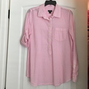 NWT j. Crew tunic pink and white striped