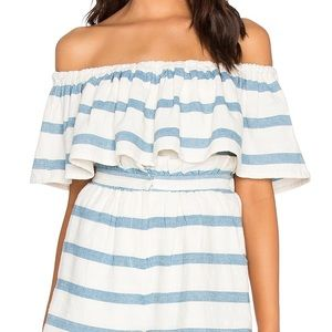 Mara Hoffman Off Shoulder Striped Top