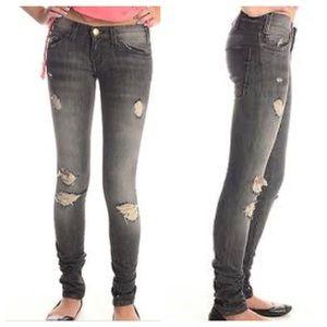 Current/Elliott light black destroyed jeans