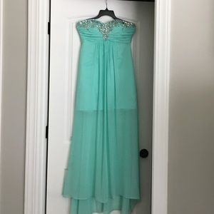 Prom mint green long dress worn once