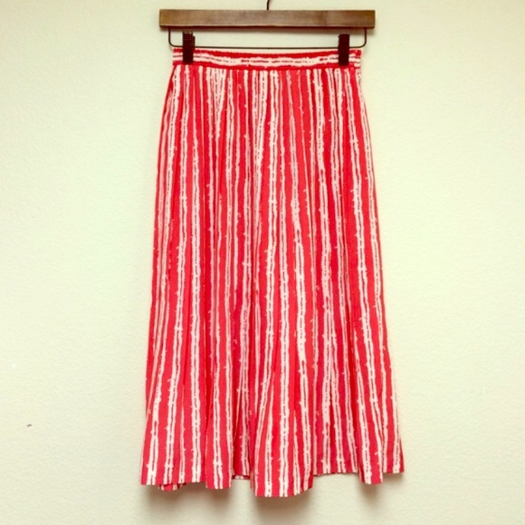 Vintage red and white striped skirt S from Brenda's closet on Poshmark