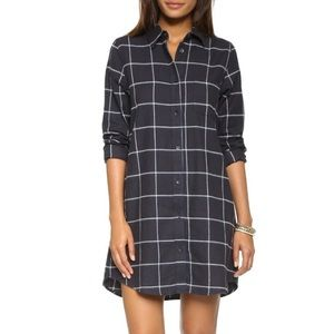 REDUCED 🎉 Solid & Striped Navy Check Shirt Dress