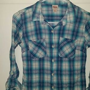 Small/Med Plaid Button Down