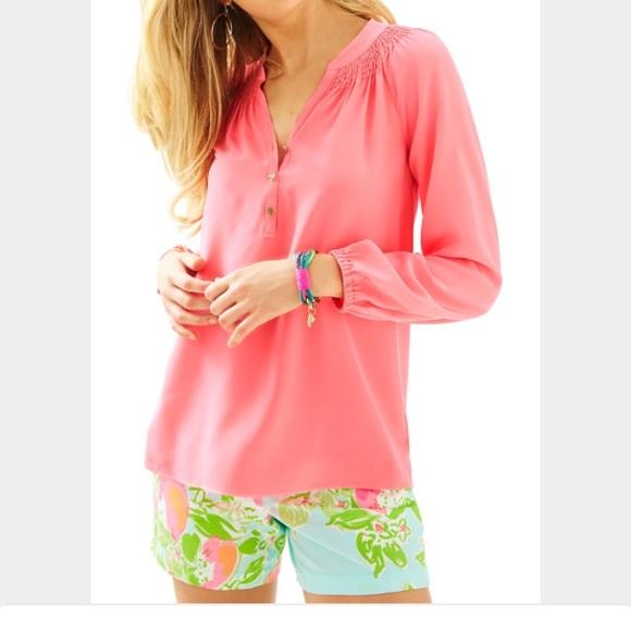 f5058436abd7e6 Lilly Pulitzer Elsa Top Hot Coral