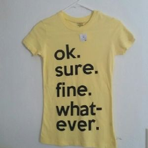 Whatever yellow Tee shirt size Small