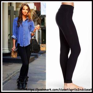 Boutique Pants - ❗1-HOUR SALE❗BLACK WIDE WAISTBAND LEGGINGS