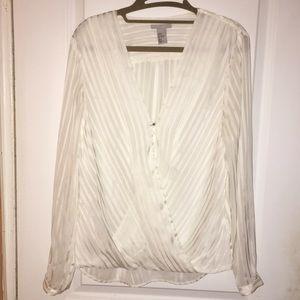 H&M Tops - NWOT H&M cream blouse with sheer back. Size 12